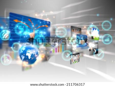 business world  - stock photo