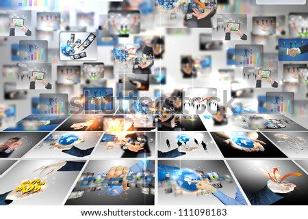 business world background - stock photo