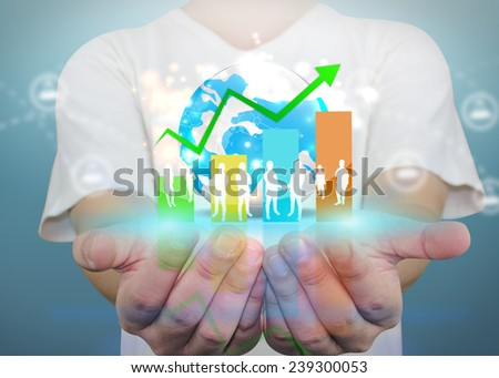 Business world concept. - stock photo