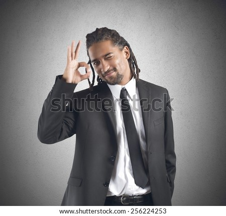 Businessman agreement with projects that improve work - stock photo