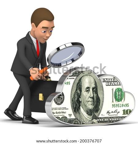 businessman analyzes Finance - stock photo