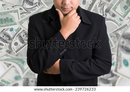Businessman and money  - stock photo