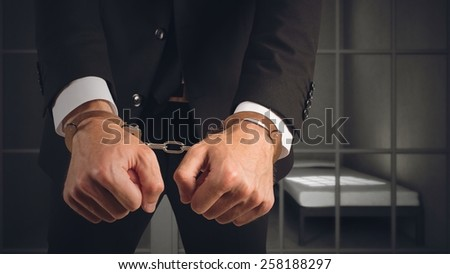 Businessman arrested for fraud to the state - stock photo
