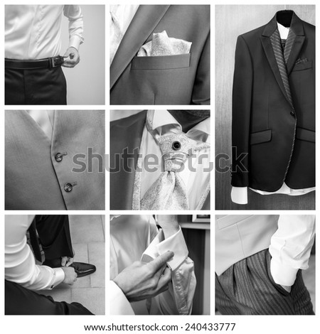 Businessman collage - stock photo