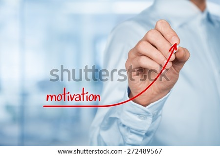 Businessman, consultant or human resources officer give you a motivation to growth (personal development).  - stock photo