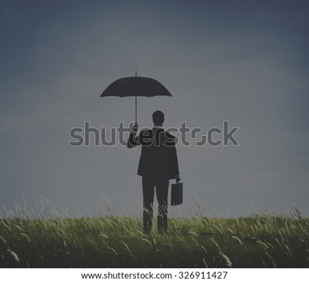 Businessman Depression Anxiety Frustration Sadness Concept - stock photo