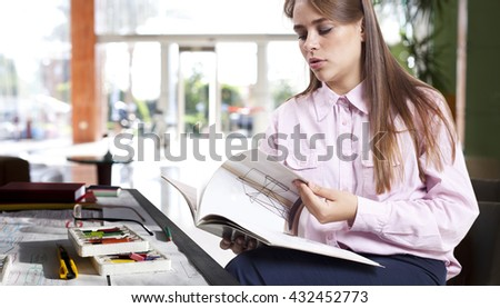 Businessman developing ideas for a new project. - stock photo