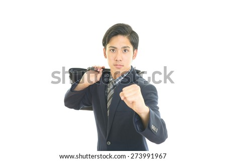 Businessman enjoying success - stock photo