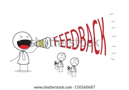 businessman feedback  - stock photo