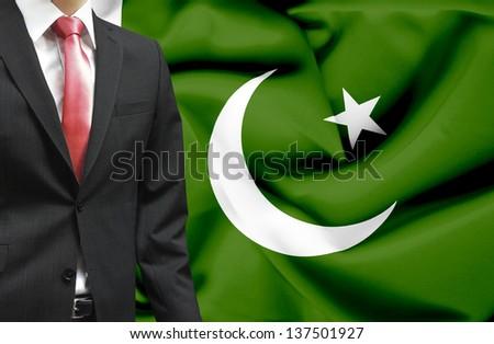 Businessman from Pakistan conceptual image - stock photo