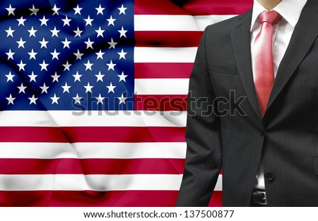 Businessman from United States of America conceptual image - stock photo