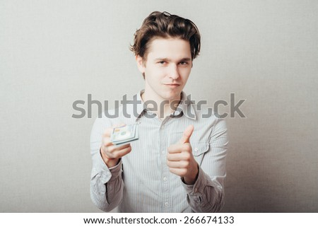 Businessman giving money  - stock photo