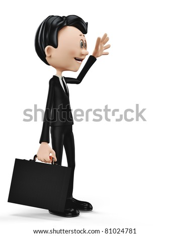 businessman greeting side view - stock photo