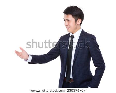 Businessman hand shake - stock photo