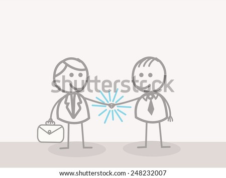 Businessman Hand Shake - stock photo