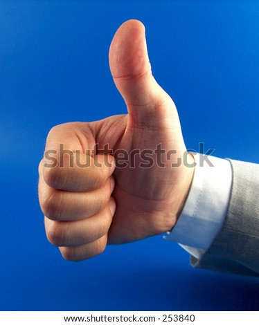 businessman hand showing alright - stock photo