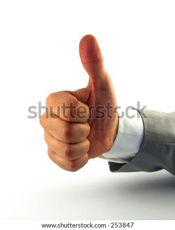 businessman hand showing good job - stock photo