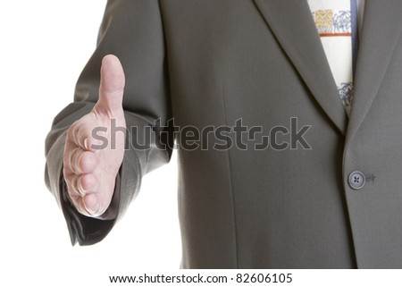 Businessman handshake - stock photo