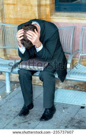 businessman has to much of work - stock photo