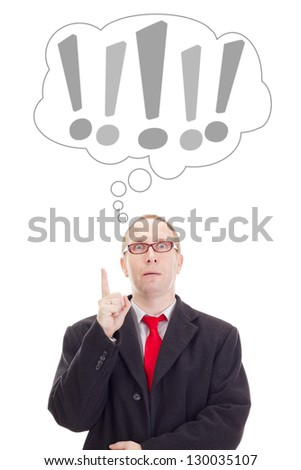 Businessman having an idea - stock photo