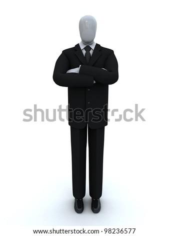 businessman having combined hands - stock photo