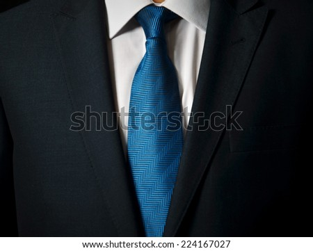 businessman in a luxury suit - close up  - stock photo
