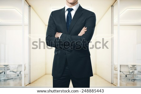Businessman in an office - stock photo
