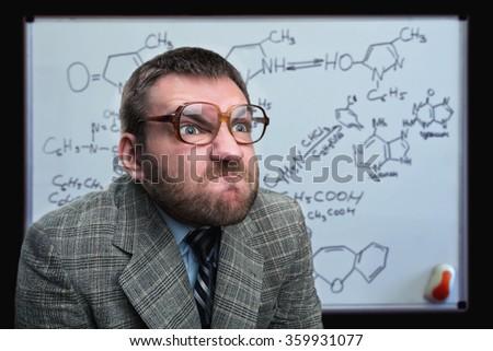 Businessman in glasses - stock photo