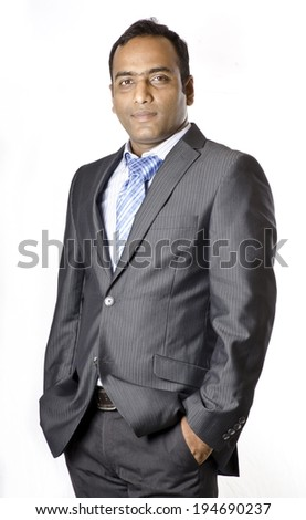 Businessman in Happy Mood - stock photo