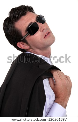 Businessman in shades - stock photo