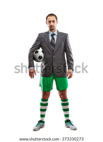 Businessman in sportwear - stock photo
