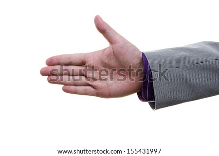businessman  is proposing agreement - stock photo