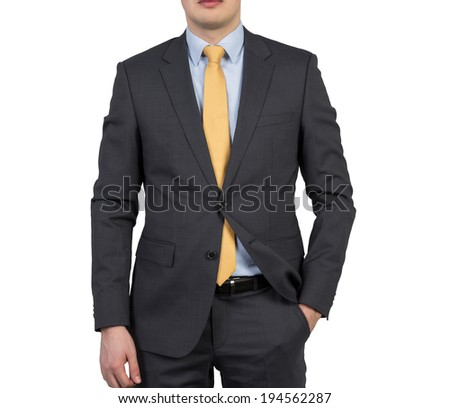 Businessman, isolated, - stock photo