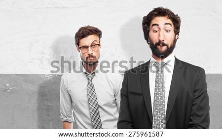 businessman joking - stock photo
