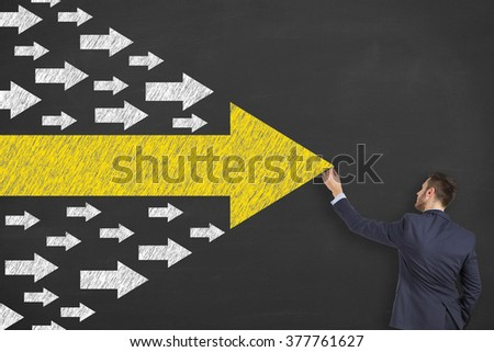Businessman Leadership Concept - stock photo