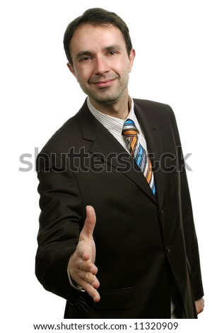 Businessman making a Deal - stock photo
