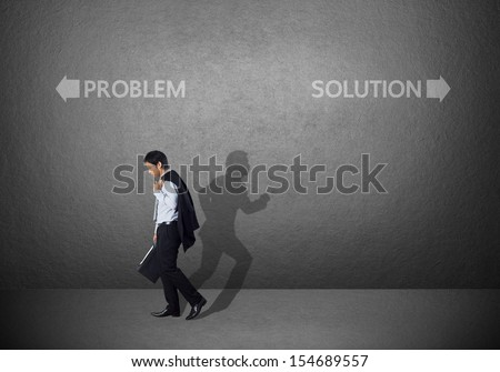 Businessman must choose between different destinations - stock photo