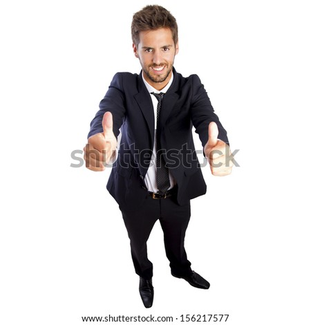 businessman ok - stock photo