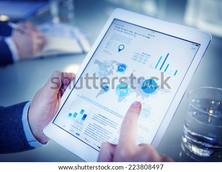 Businessman on an Online Financial Assessment - stock photo