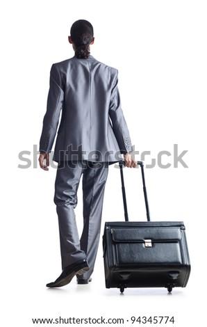Businessman on his travel days - stock photo