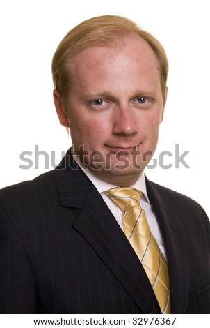 Businessman on white background - stock photo