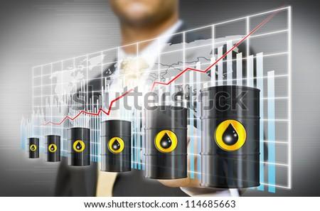 Businessman petrol crisis concept - stock photo