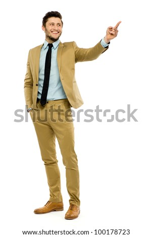Businessman pointing - stock photo