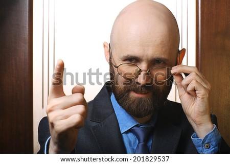 businessman portrait concept idea - stock photo