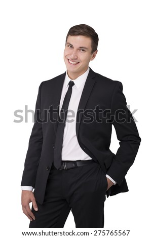 Businessman portrait isolated - stock photo