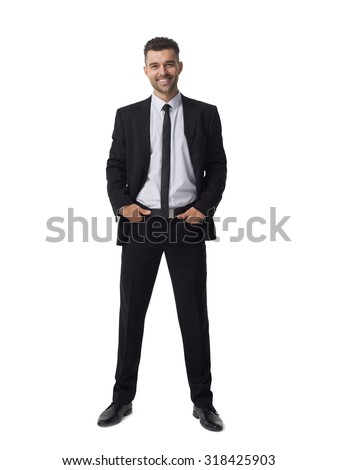 Businessman portrait isolated on white background  - stock photo