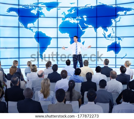 Businessman Presenting in the Meeting Room - stock photo