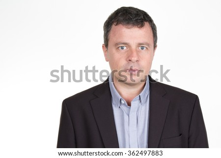 Businessman. Professional accountant and bookkeeper portrait isolated - stock photo