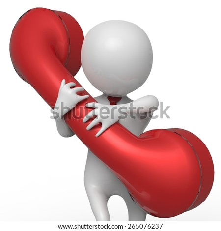 businessman red telephone close up - stock photo