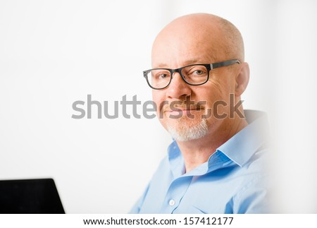 Businessman's hands working at a table    - stock photo